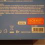 Retro scatola con marchio e codice articolo.