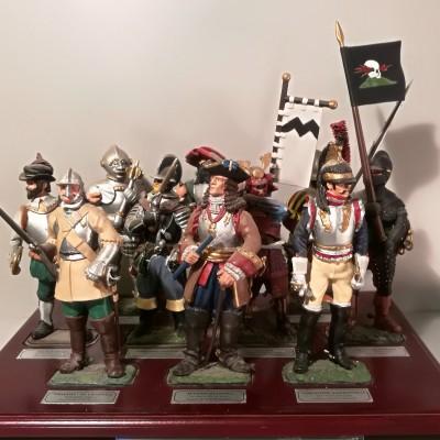 Vista frontale serie soldatini