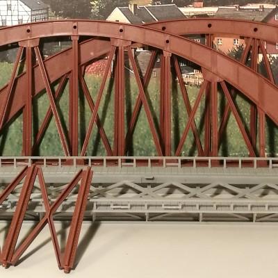 Vista frontale ponte smontato.